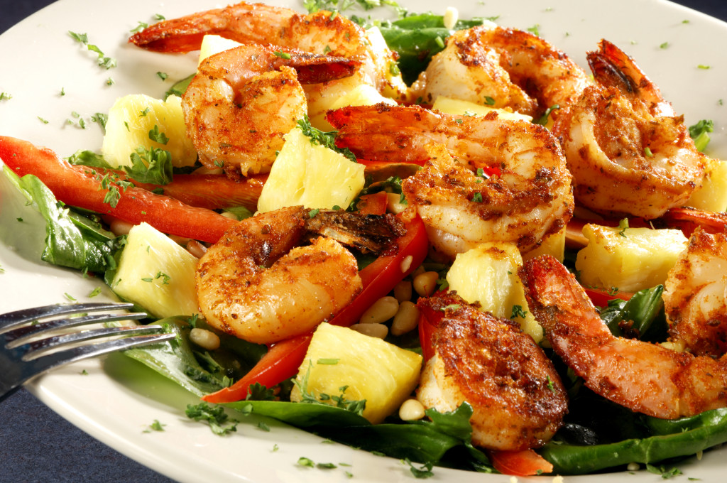 Shrimp with Pineapple